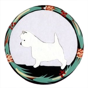 Hand Painted Dog Christmas Ornament - Westie