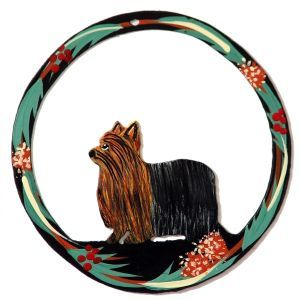 Hand Painted Dog Christmas Ornament - Yorkie