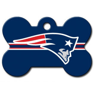 New England Patriots NFL Custom Engraved Dog ID Tag - Bone