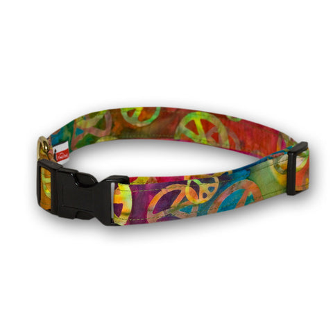 Elmo's Closet Peace Dog Collar