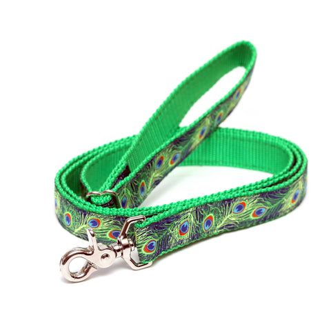 Rita Bean Dog Leash - Peacock Pride