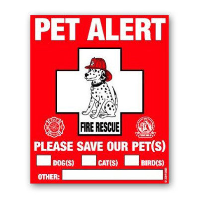 Pet Alert Safety Stickers - 2 Ct Static Cling Window Decals
