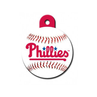 Philadelphia Phillies MLB Custom Engraved Dog ID Tag - Round