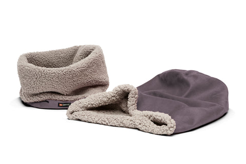 Big Shrimpy Den Dog & Cat Bed - Plum