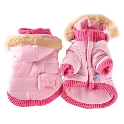 Pocket Parka Dog Coat - Pink