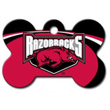 Arkansas Razorbacks NCAA Custom Engraved Dog ID Tag - Bone