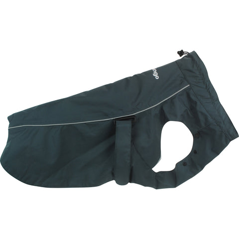 Red Dingo Perfect-Fit Rain Coat For Dogs - Charcoal Gray