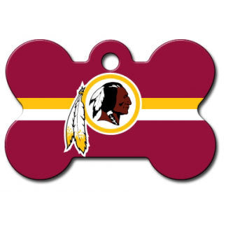 Washington Redskins NFL Custom Engraved Dog ID Tag - Bone
