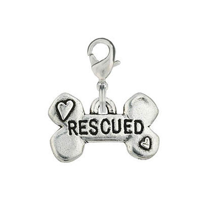 Bone Shaped Dog Charm - Rescued