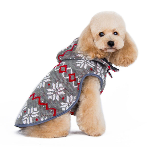 Reversible Dog Sweater Trench Coat