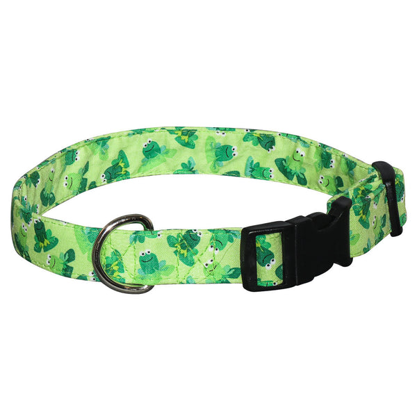 Elmo's Closet Rib-Bit Frog Dog Collar