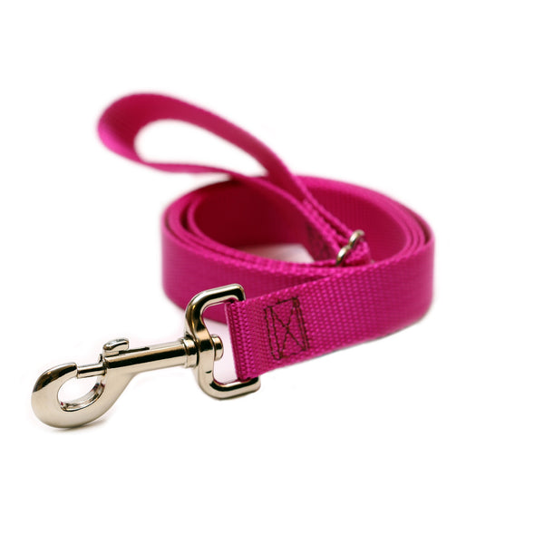 Rita Bean Dog Leash - Nylon Webbing (Raspberry)