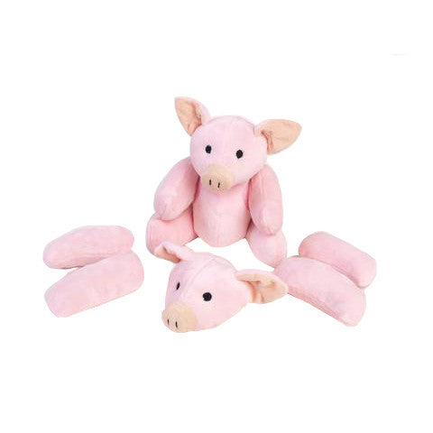 Rippys Interactive Pull Apart Dog Toy - Pig (In Pieces)
