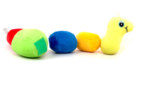 Rippys Interactive Pull Apart Dog Toy - Worm