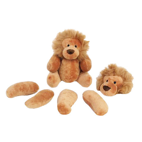 Rippys Interactive Pull Apart Dog Toy - Lion In Pieces