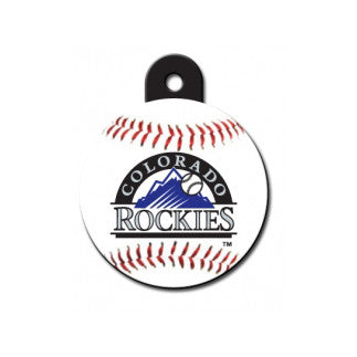 Colorado Rockies MLB Custom Engraved Dog ID Tag - Round
