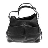 Sadie Airline Approved Pet Carry Bag - Black Faux Pebble