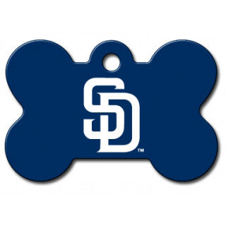 San Diego Padres MLB Custom Engraved Dog ID Tag - Bone