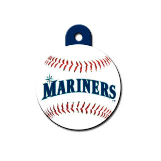 Seattle Mariners MLB Custom Engraved Dog ID Tag - Round