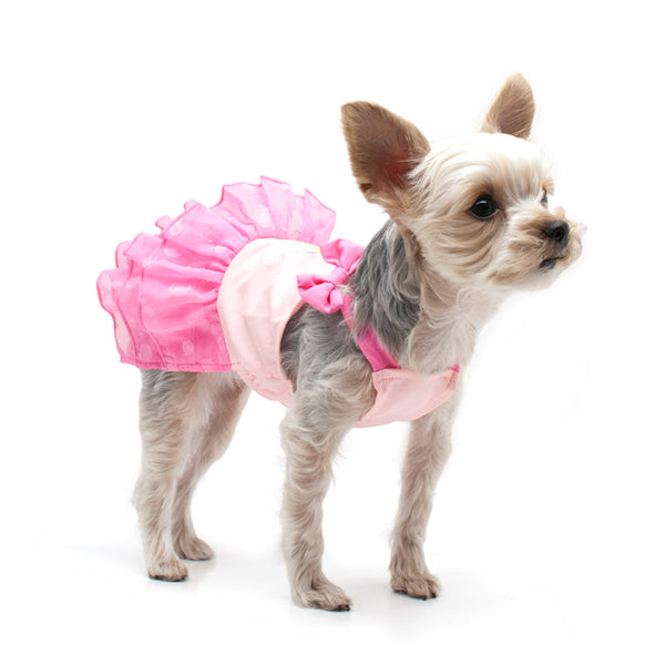 Super Sequins Pink Flamingo Dog Dress