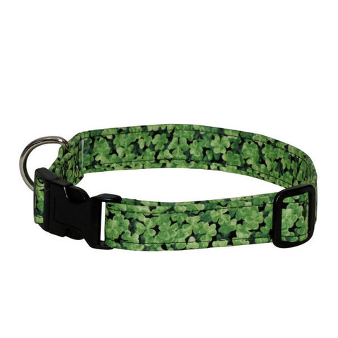 Elmo's Closet Shamrock Field Dog Collar