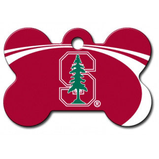 Stanford Cardinal NCAA Custom Engraved Dog ID Tag - Bone