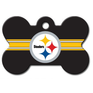 Pittsburgh Steelers NFL Custom Engraved Dog ID Tag - Bone