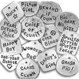 Fetching Tags Hand Stamped Dog Tag - Create Your Own