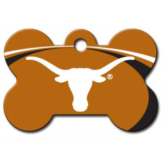 Texas Longhorns NCAA Custom Engraved Dog ID Tag - Bone