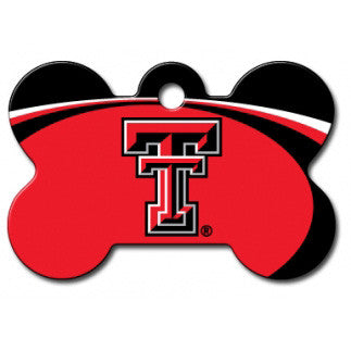 Texas Tech Red Raiders NCAA Custom Engraved Dog ID Tag - Bone