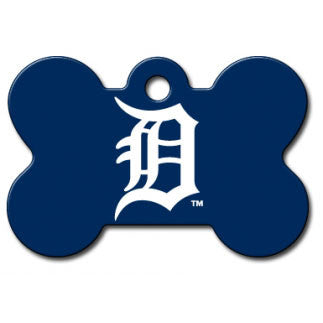 Detroit Tigers MLB Custom Engraved Dog ID Tag - Bone