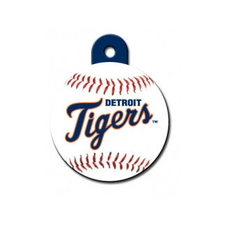 Detroit Tigers MLB Custom Engraved Dog ID Tag - Round