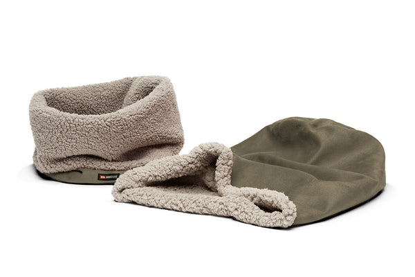 Big Shrimpy Den Dog & Cat Bed - Stone