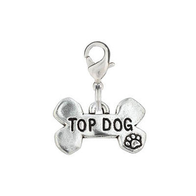 Bone Shaped Dog Charm - Top Dog