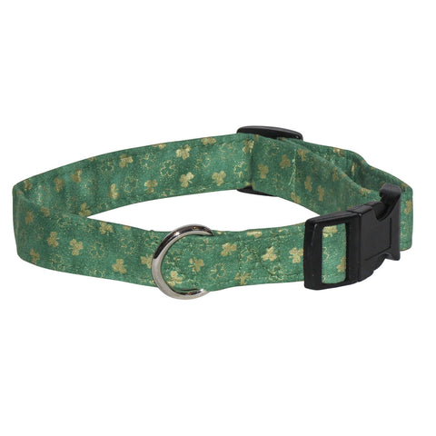 Elmo's Closet Top O the Morning (Light Green) Dog Collar