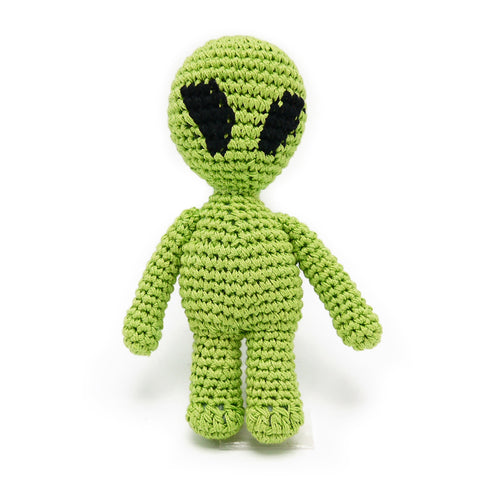 Alien Crochet Dog Toy with Squeaker