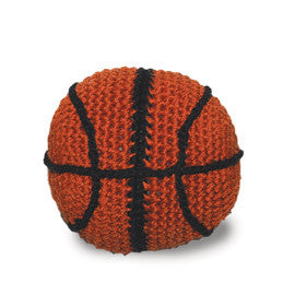 Basketball Crochet Dog Toy with Squeaker