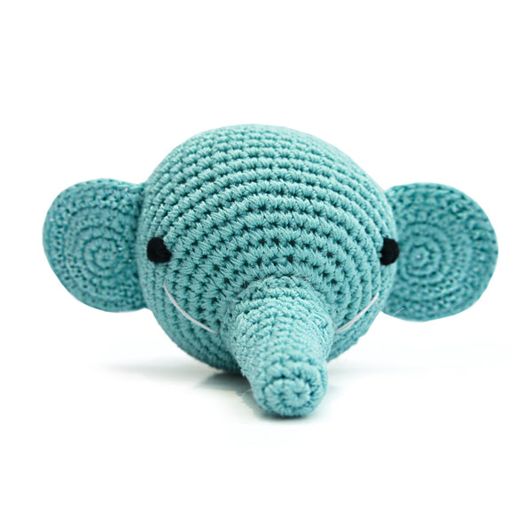 Elephant Crochet Dog Toy with Squeaker