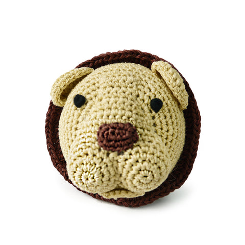 Lion Crochet Dog Toy with Squeaker