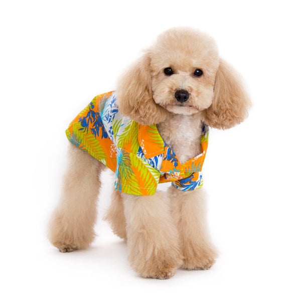 Tropical Island Dog Shirt - Orange