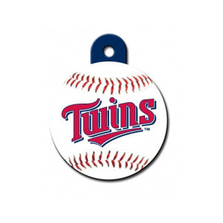 Minnesota Twins MLB Custom Engraved Dog ID Tag - Round