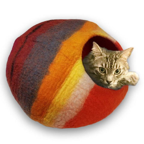 Cat Cave Cat Bed - Western Sunset