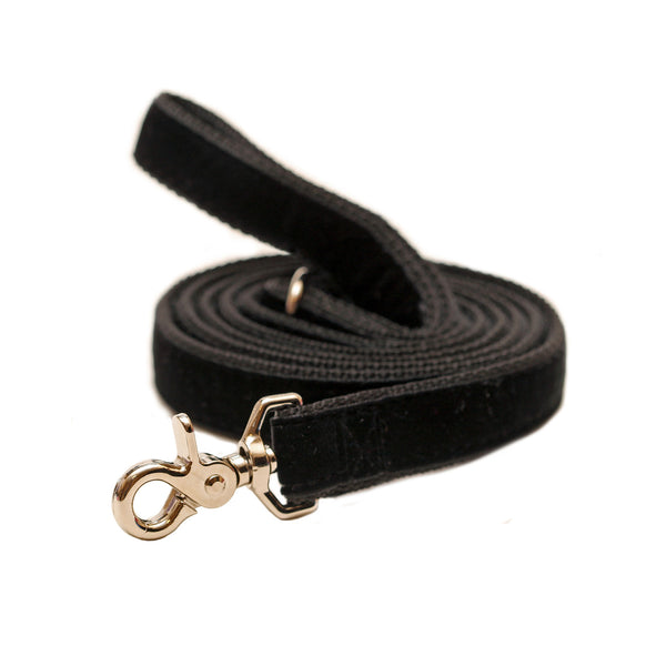 Rita Bean Dog Leash - Velvet (Black)