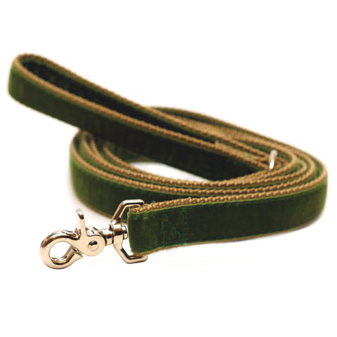 Rita Bean Dog Leash - Velvet (Green)