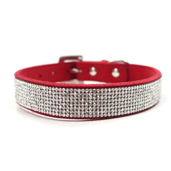 VIP Bling Dog Collar - Red