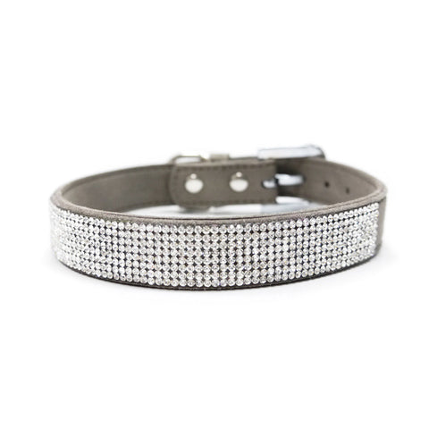 VIP Bling Dog Collar - Gray