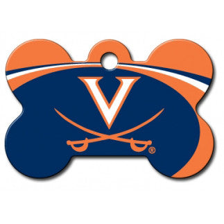 Virginia Cavaliers NCAA Custom Engraved Dog ID Tag - Bone