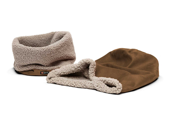 Big Shrimpy Den Dog & Cat Bed - Walnut