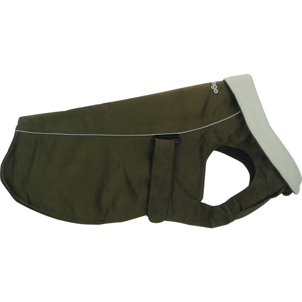 Red Dingo Perfect-Fit Warm Coat For Dogs - Olive Green