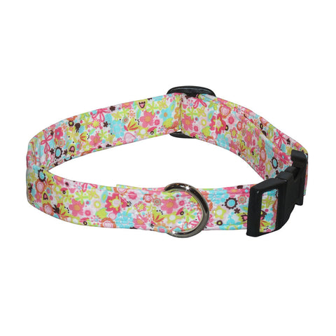 Elmo's Closet Watercolor Garden Dog Collar